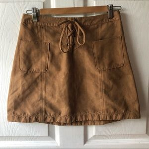 Hollister Faux suede tan skirt